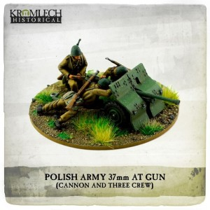 Polish Army Bofors 37mm anti tank gun with crew (cannon + 3)