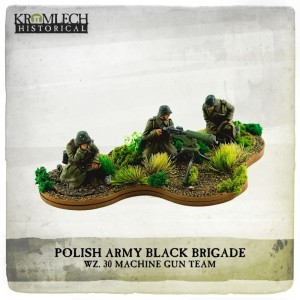Polish Army Black Brigade wz. 30 Machine Gun team (MG and three crew)