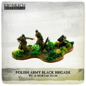 Polish Army Black Brigade wz. 31 mortar team (mortar and 3 crew)