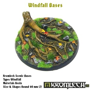 Windfall bases - round 60mm