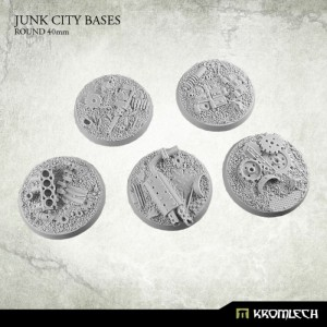 Junk City Bases - round 40mm