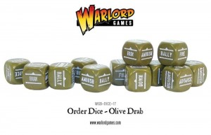 Bolt Action Orders Dice - Olive drab(12)