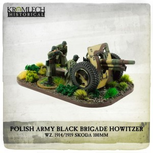 POLISH ARMY BLACK BRIGADE WZ. 1914/1919 SKODA 100MM HOWITZER