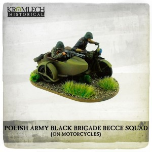 POLISH ARMY BLACK BRIGADE RECCE SQUADRON ON SOKOL 1000 MOTORCYCLES