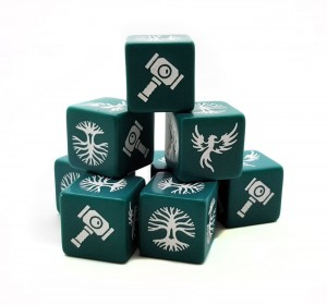 SAGA Dice - Age of Magic Forces of Order Dice (8)